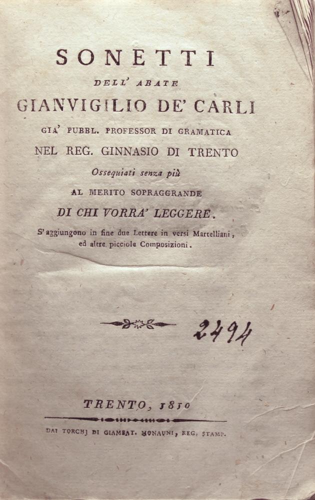 ABATE GIANVIGILIO DE' CARLI